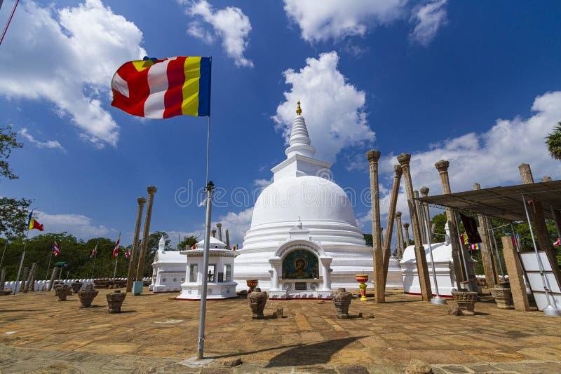 在阿努拉德普勒王国的Thuparama dagoba,斯里兰卡 免版税库存图片