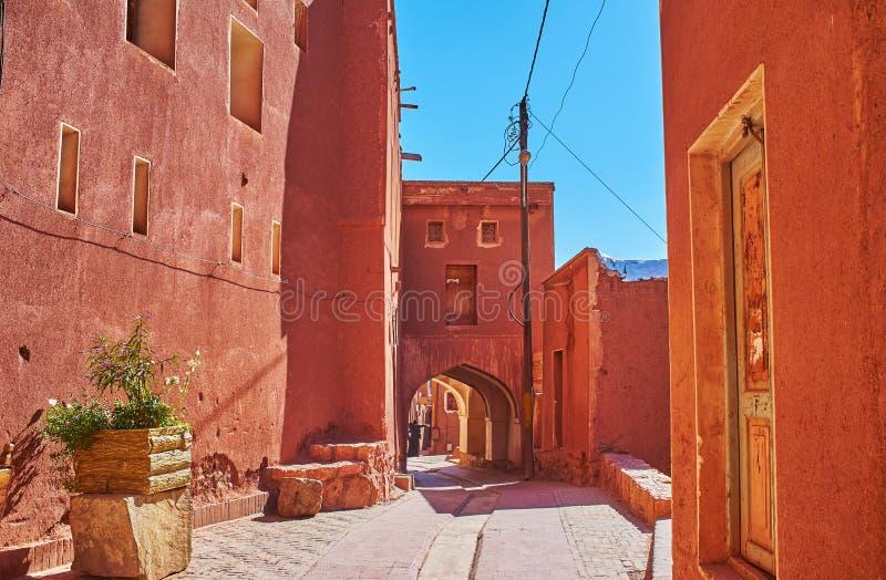 在阿卜亚内赫村庄,伊朗 库存图片