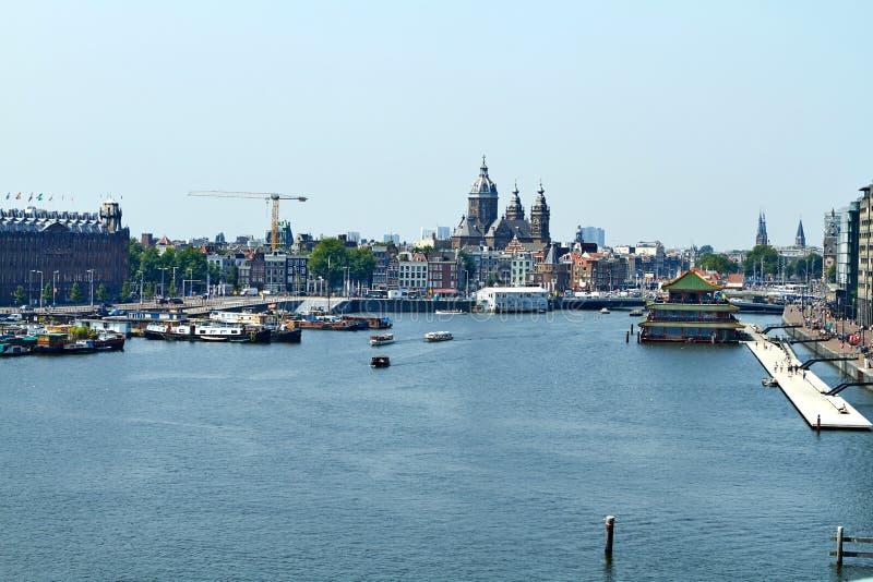 在阿姆斯特丹的观点 库存照片