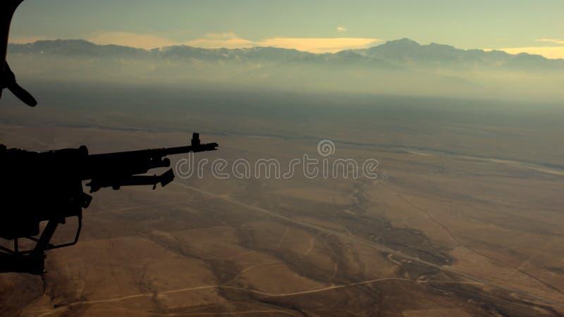 在阿富汗之上 库存照片