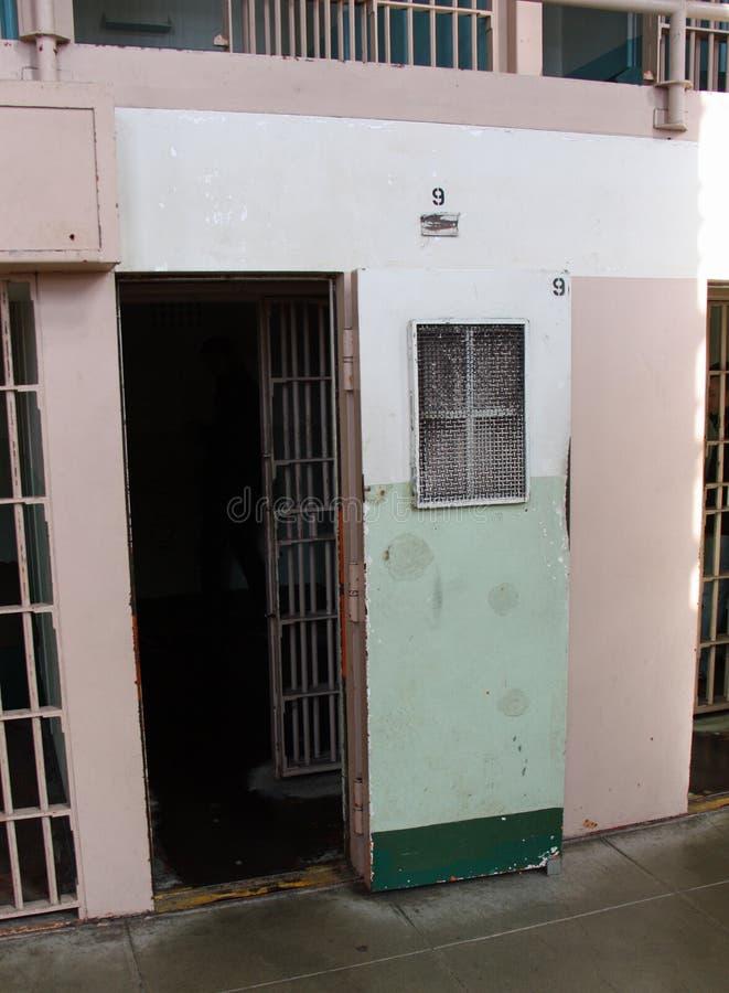 在阿尔卡特拉斯岛的一间牢房 免版税库存图片