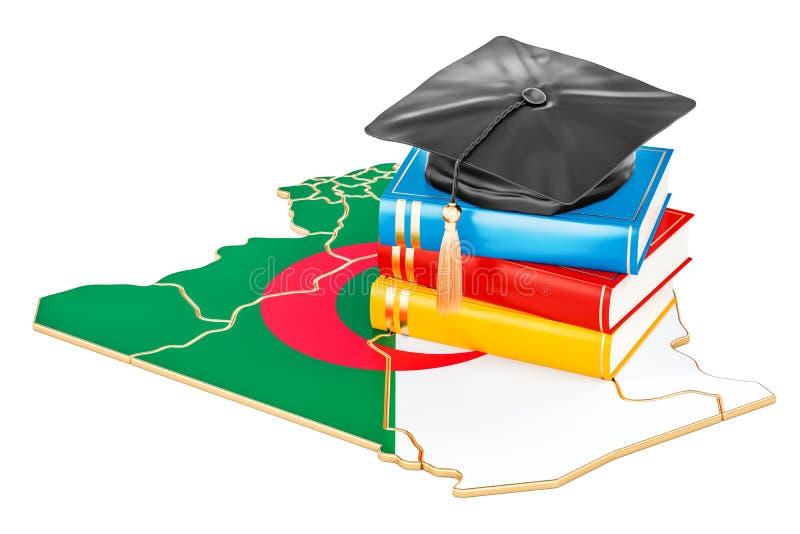 在阿尔及利亚概念, 3D的教育翻译 库存例证