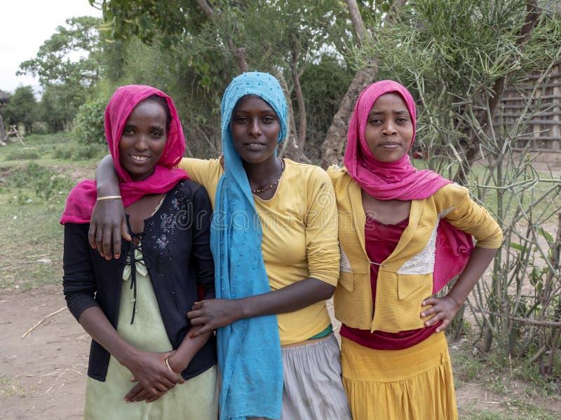 在阿尔巴MINCH附近,埃塞俄比亚,5月7日 2019年,回教女孩,5月7日 2019年,在阿尔巴Minch附近,埃塞俄比亚 免版税库存图片