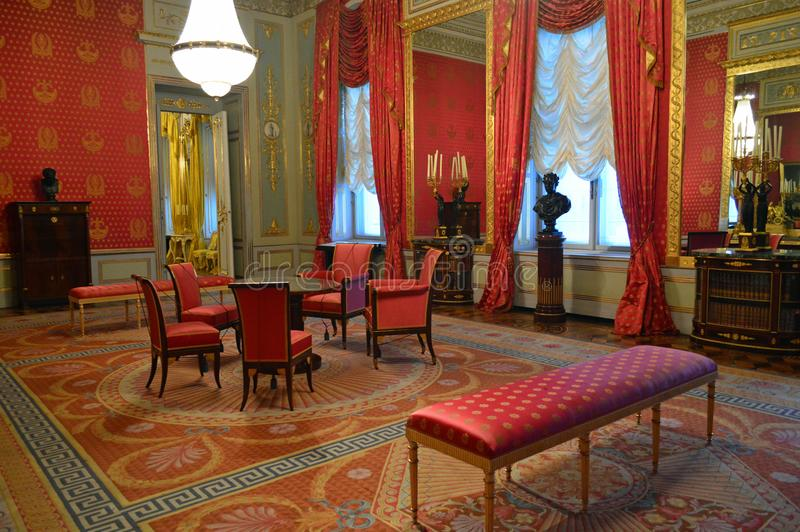 在阿尔贝蒂娜博物馆维也纳奥地利的皇家公寓 库存照片
