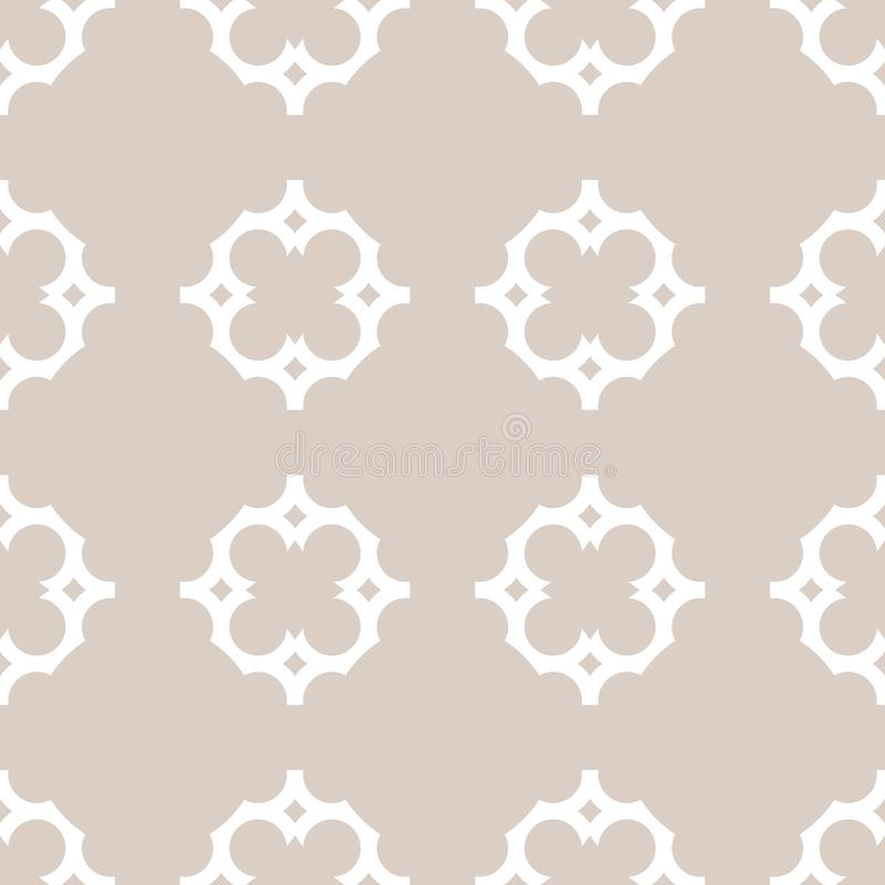 在阿拉伯样式的传染媒介装饰品无缝的样式 典雅的锦缎纹理 库存例证