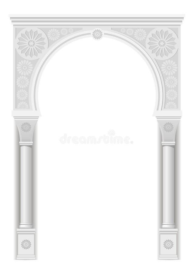 在阿拉伯样式的曲拱 库存例证