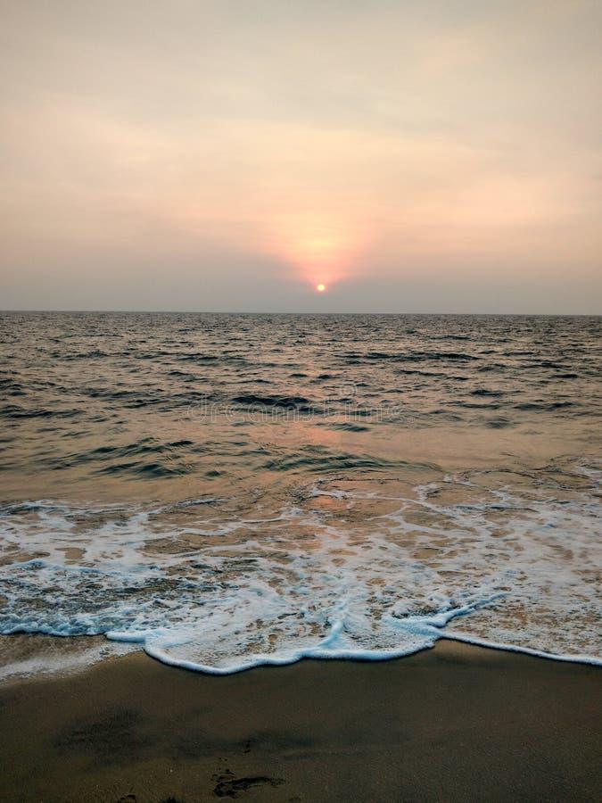 在阿拉伯海的海滩 免版税库存照片