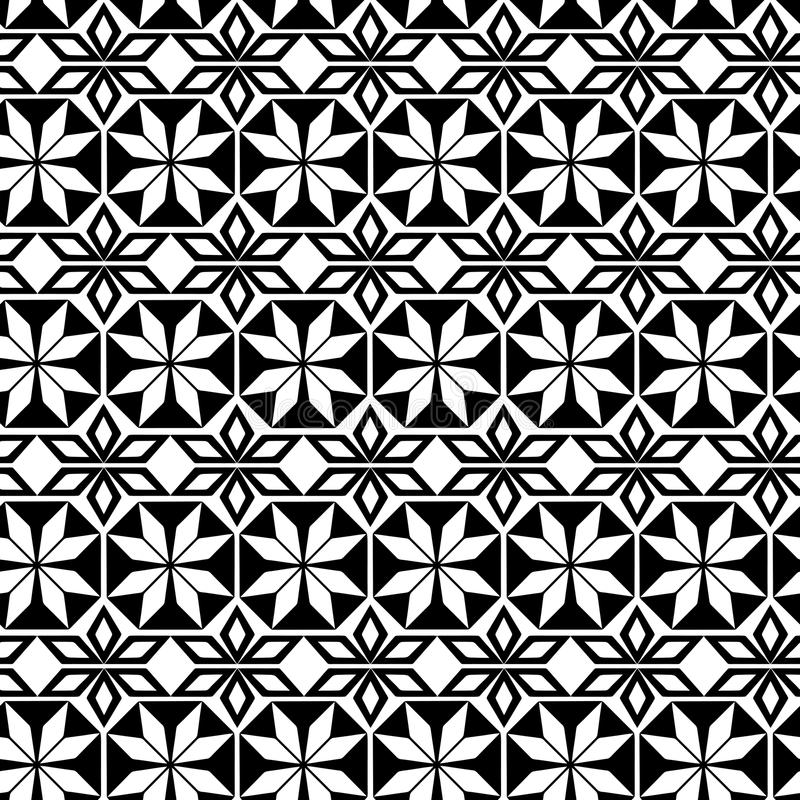 在阿拉伯主题的无缝的重复的几何样式 皇族释放例证