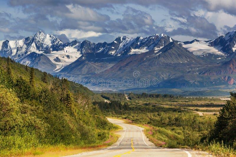在阿拉斯加的山 免版税库存图片