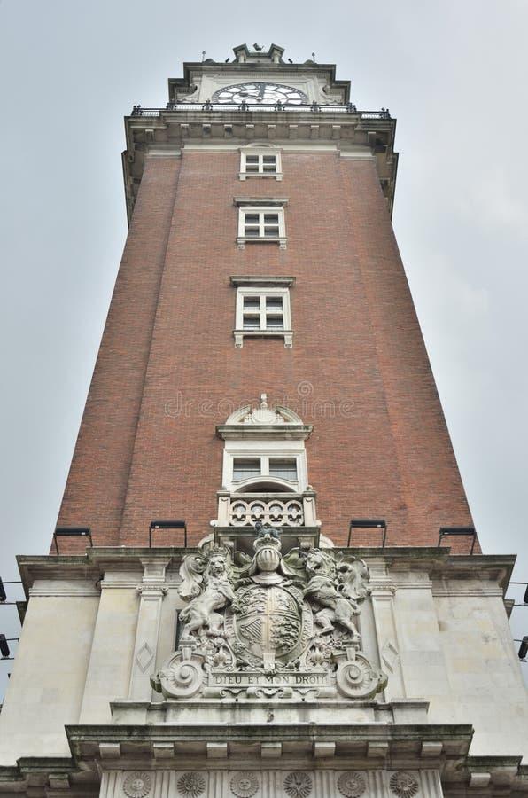 在阿根廷布宜诺斯艾利斯联邦首都的历史大厦 免版税库存照片