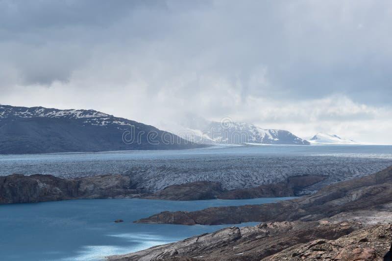 在阿根廷的Upsala冰川 库存照片