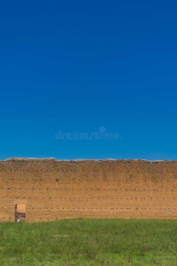 在阿比安墙壁上的墙壁在意大利 库存图片