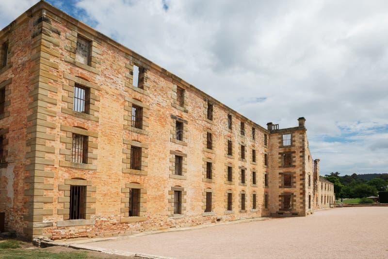 在阿瑟港的监狱大厦在塔斯马尼亚岛,澳大利亚 免版税图库摄影