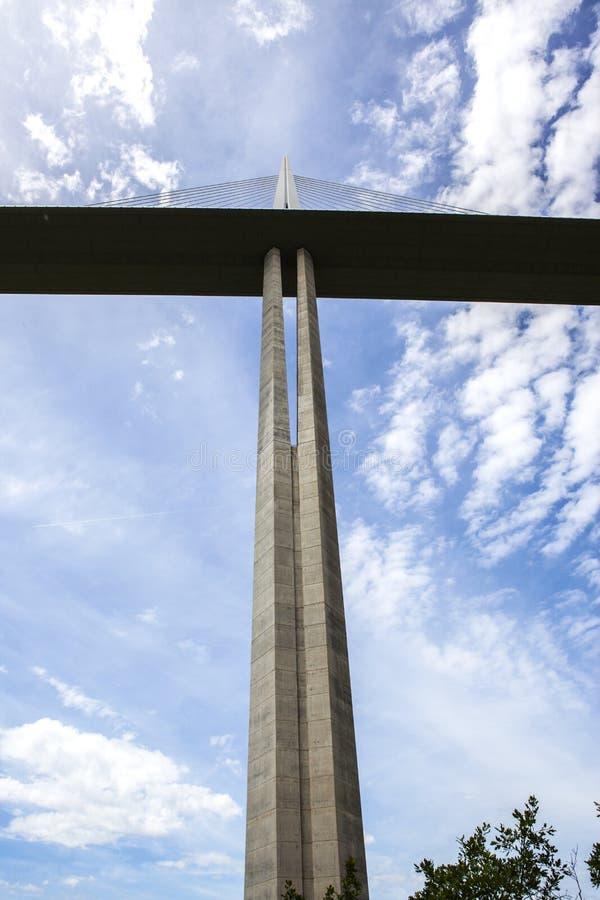 在阿韦龙省,法国的部门的米约桥梁 图库摄影