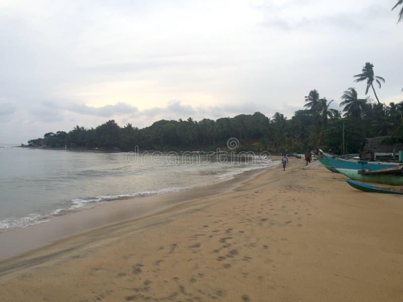 在阿鲁加姆湾,斯里兰卡的早晨 库存图片
