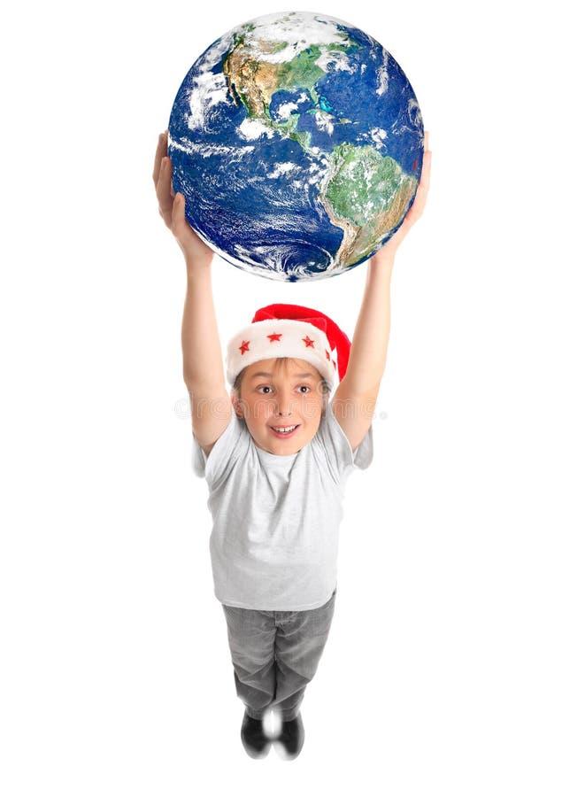 在附近庆祝圣诞节世界 免版税库存照片