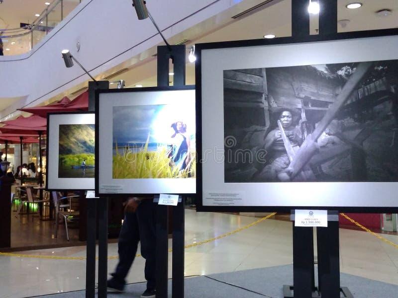 在陈列照片棉兰的Pameran poto 免版税库存图片