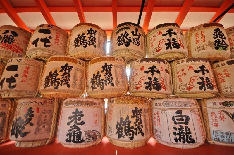 在除夕的幸运的灯笼在日本 免版税库存照片