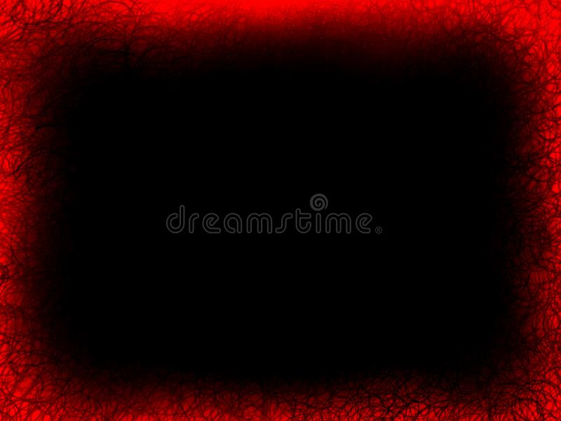 在隔绝的摘要红色织地不很细火焰框架黑背景 库存照片