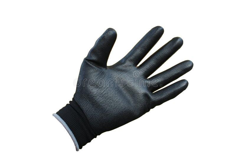 在隔绝的黑手套 免版税图库摄影
