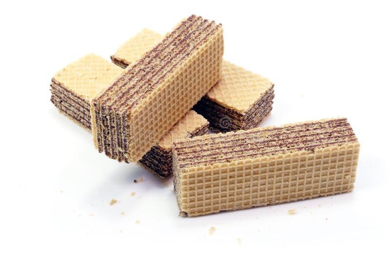 在隔绝的巧克力薄酥饼 库存图片
