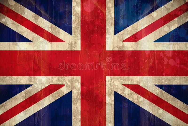 在难看的东西作用的英国国旗旗子 库存例证