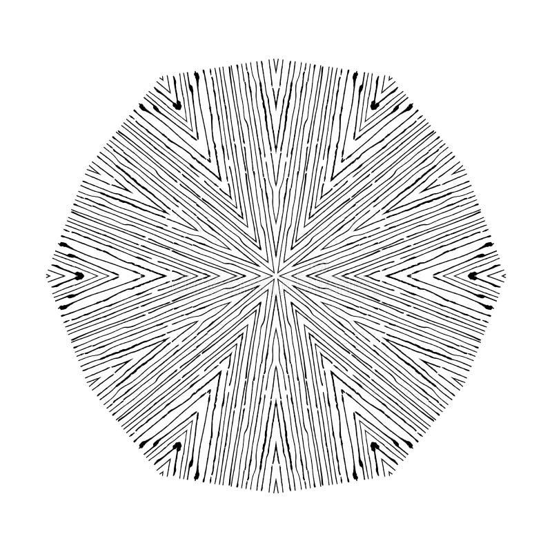 在难看的东西样式的传染媒介圆样式 被排行的样式 行家, boho,土气 向量例证
