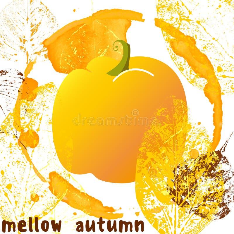 在难看的东西样式的醇厚的秋天海报 向量例证