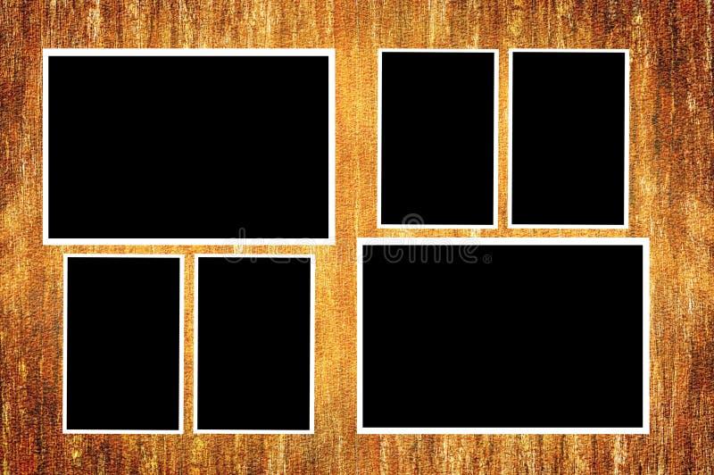 在难看的东西棕色例证背景的照片卡片 向量例证