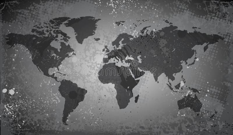 在难看的东西背景的世界地图 皇族释放例证
