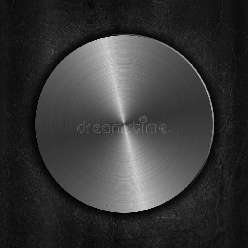 在难看的东西背景的掠过的金属按钮 向量例证