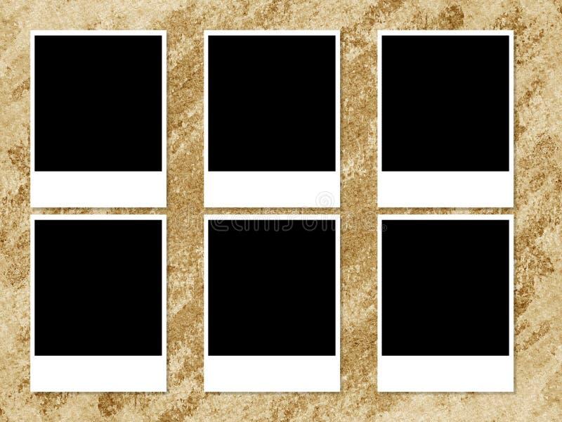 在难看的东西褐色背景的照片框架 皇族释放例证