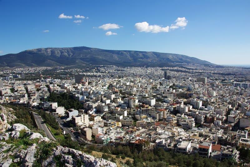 在雅典之上 库存照片