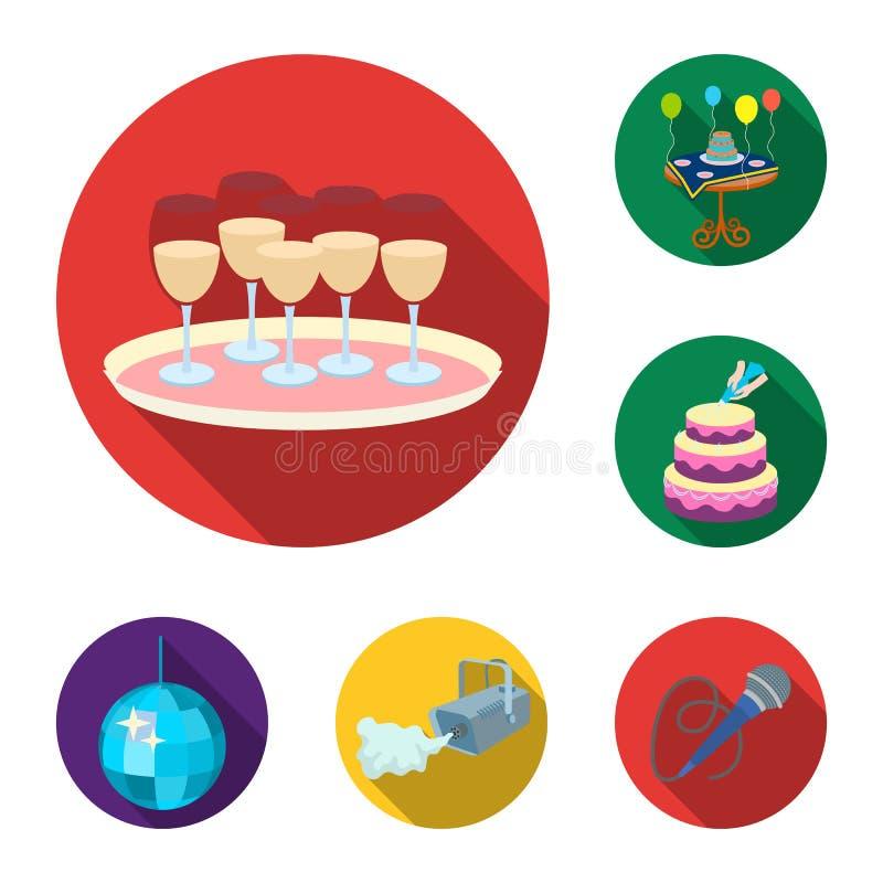 在集合汇集的事件组织平的象的设计 庆祝和属性传染媒介标志股票网 皇族释放例证