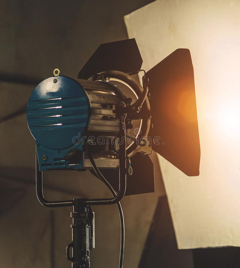 在集合的照明设备 库存照片