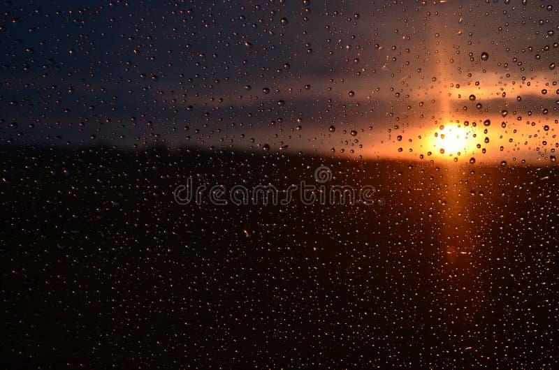 在雨以后的日落 库存照片