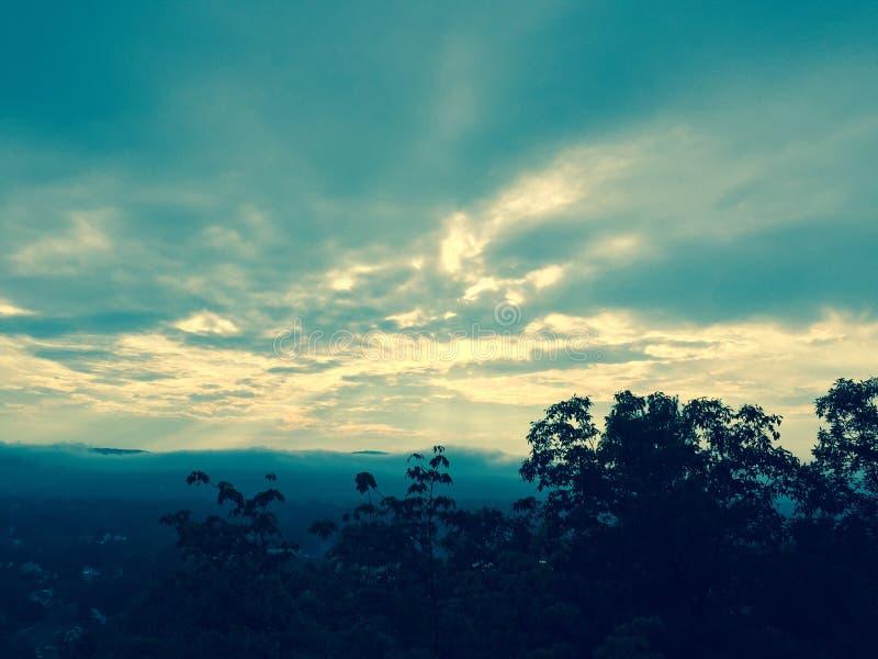 在雨以后的天空 库存图片