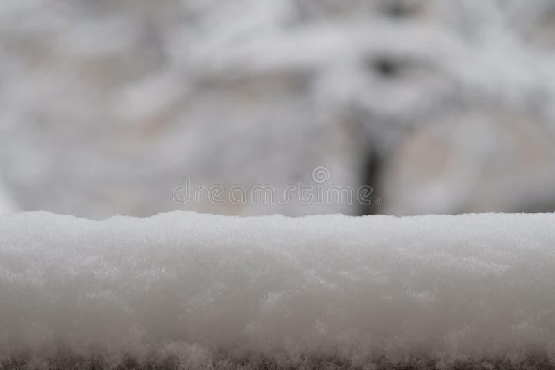 在雪好的bokeh之外 库存图片