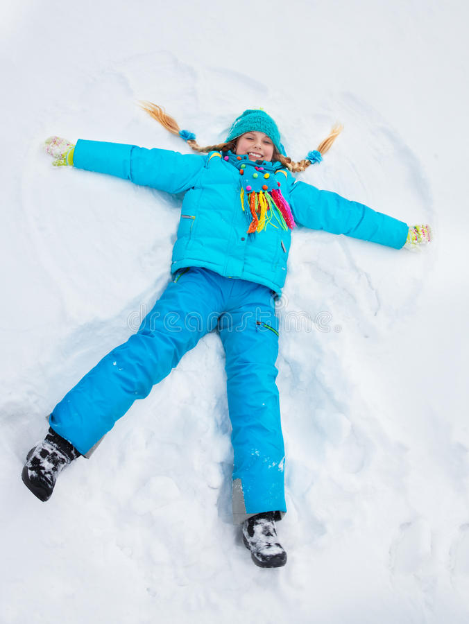在雪的一点星 免版税库存图片