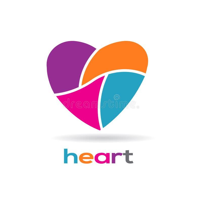 在零件商标设计的心脏 皇族释放例证