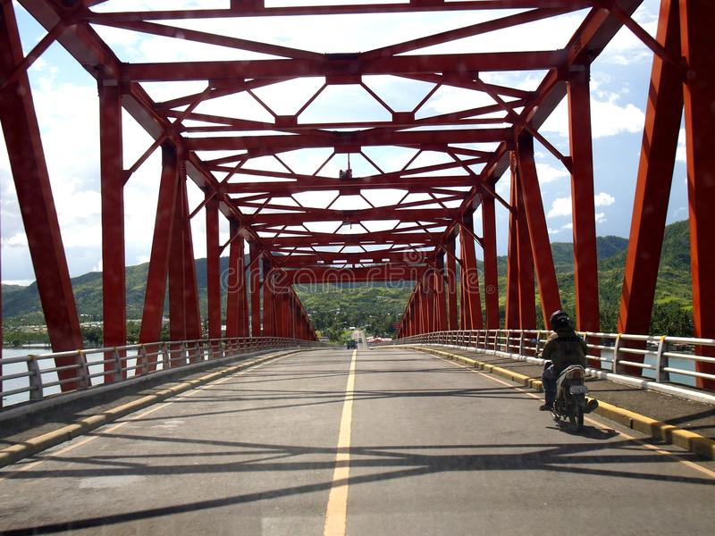 在雷伊泰,菲律宾省的知名的圣Juanico桥梁  库存图片