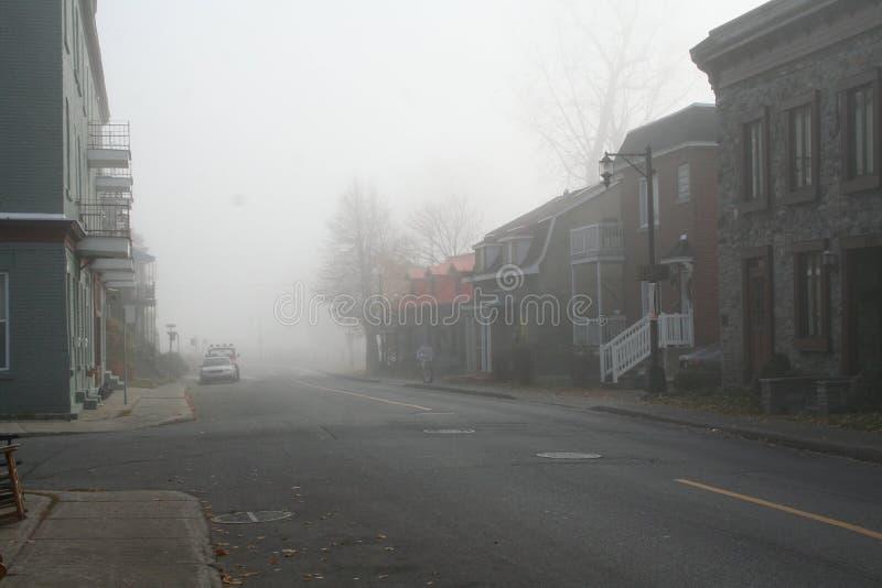 在雾的Lachine 免版税库存照片