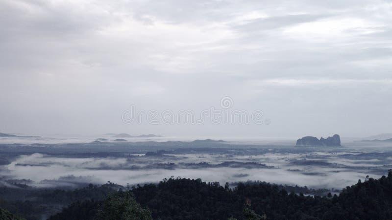 在雾的Lembing 免版税库存图片