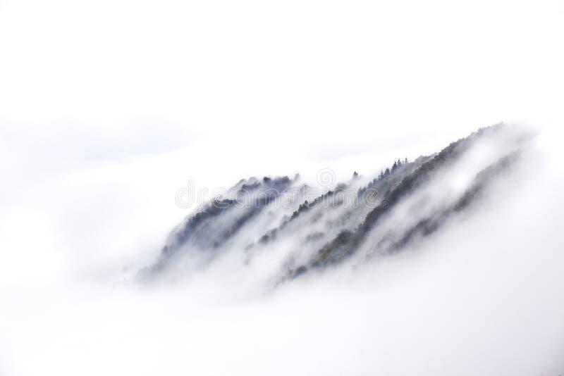 在雾的Starkenburg 免版税库存图片
