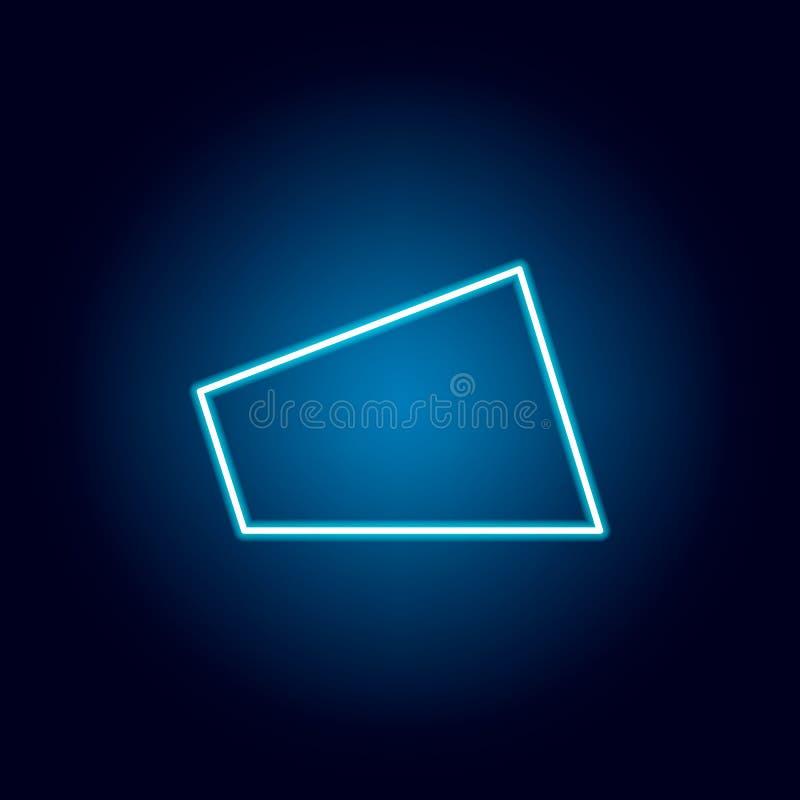 在霓虹样式的四边形象 流动概念和网应用程序的几何图元素 r 皇族释放例证