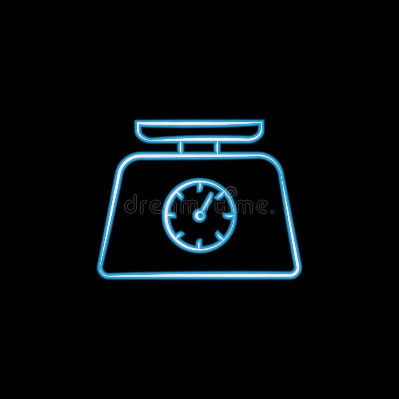 在霓虹样式的搅拌器象 一elctricity项目汇集象商标可以为UI, UX使用 库存例证