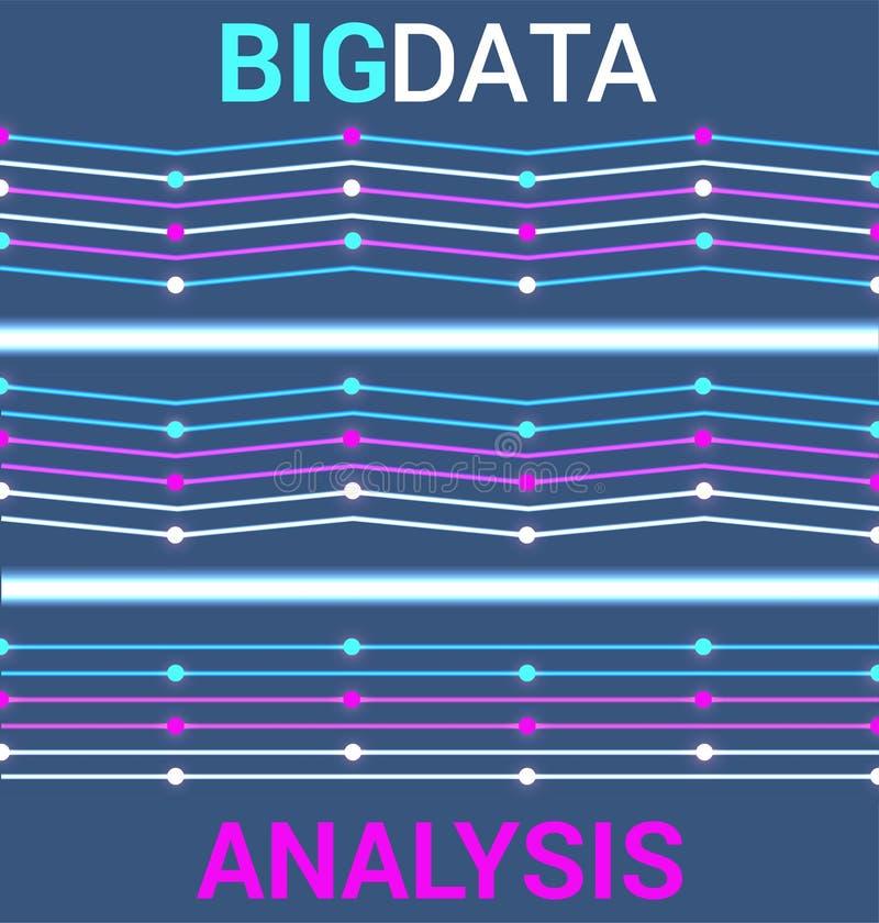 在霓虹样式的未来派大数据形象化 皇族释放例证