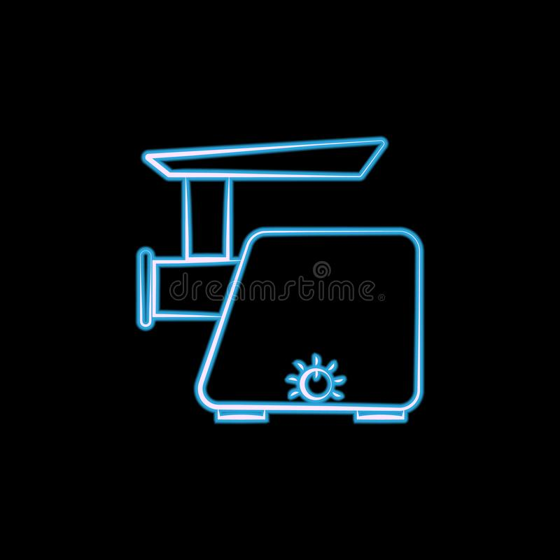 在霓虹样式的电子天平象 一elctricity项目汇集象商标可以为UI, UX使用 皇族释放例证