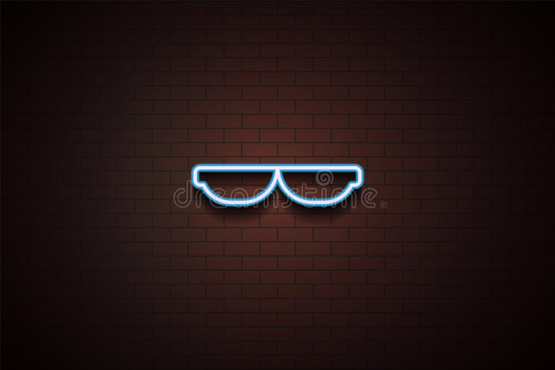 在霓虹样式的聪明的太阳镜象 库存例证