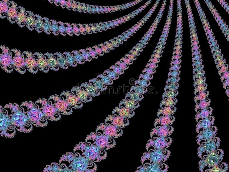 在霓虹颜色,3d的抽象织地不很细分数维样式为海报、设计和娱乐回报 r 皇族释放例证